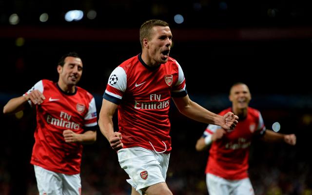 Arsenal Santi Cazorla + Lukas Podolski + Kieran Gibbs