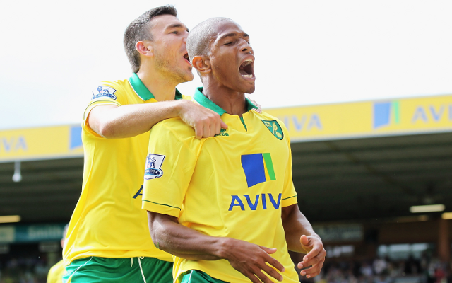 Norwich City Robert Snodgrass + Simeon Jackson