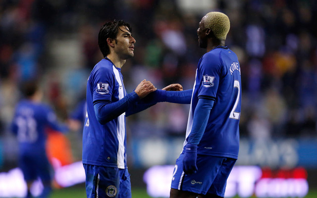 Jordi Gomez & Arouna Kone Wigan Athletic
