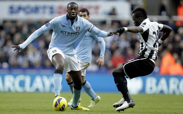 Cheik Tiote Newcastle Yaya Toure Manchester City