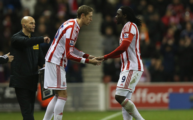 Peter Crouch Kenwyne Jones Stoke City