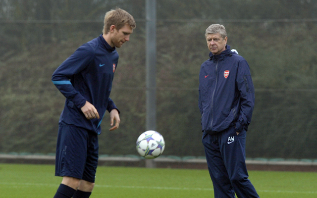 Per Mertesacker Arsene Wenger Arsenal