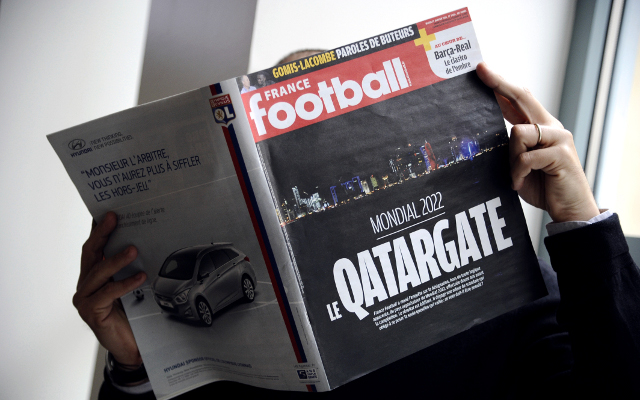 Private: French football magazine accuses Qatar World Cup bid of bribery and corruption