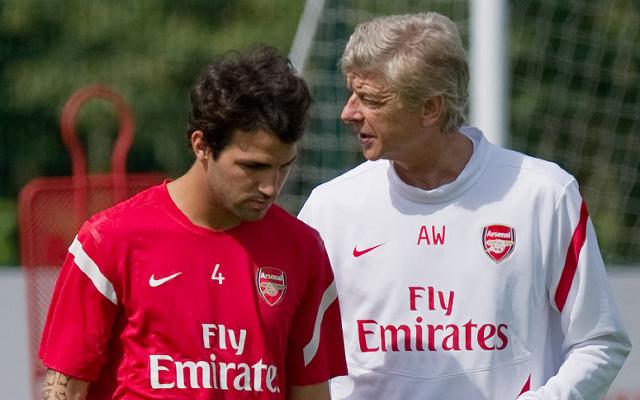 Arsene Wenger Cesc Fabregas Arsenal