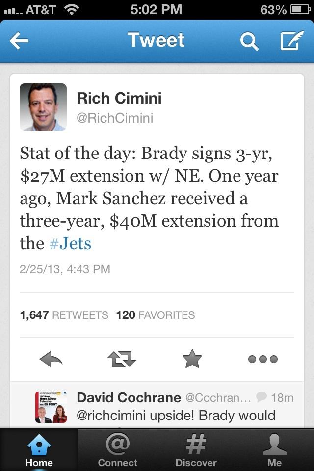 Brady contract comparison
