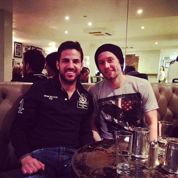Cesc Fabregas + Tomas Rosicky Arsenal Barcelona