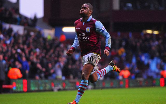 (GIF) Charles N'Zogbia's stunning free-kick for Aston Villa against West Ham