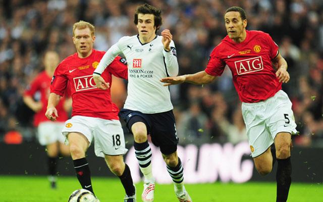 Gareth Bale Rio Ferdinand Paul Scholes Tottenham Man United