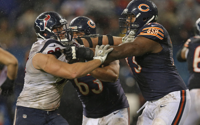 Chicago Bears offensive tackle J'Marcus Webb arrested