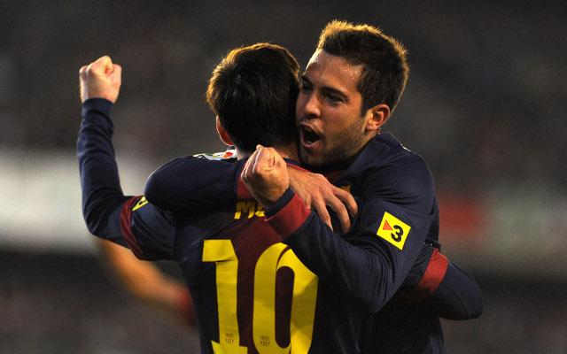 (GIF) Jordi Alba's consolation goal for Barcelona against Real Madrid