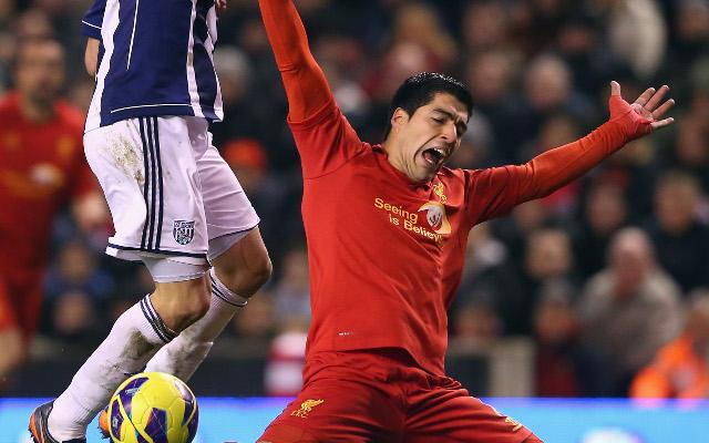 (GIF) Cheats never prosper: Luis Suarez dives again but Liverpool beaten