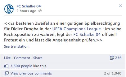 schalke 04 facebook page