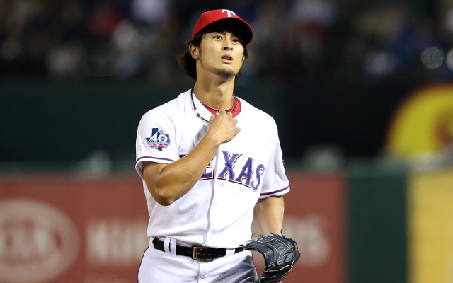 Texas Rangers pitcher Yu Darvish comes within one out of pitching a perfect game