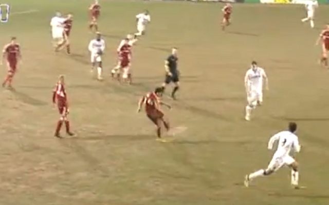 (Video) Gary Roberts scores from way inside his own half for Swindon at Tranmere