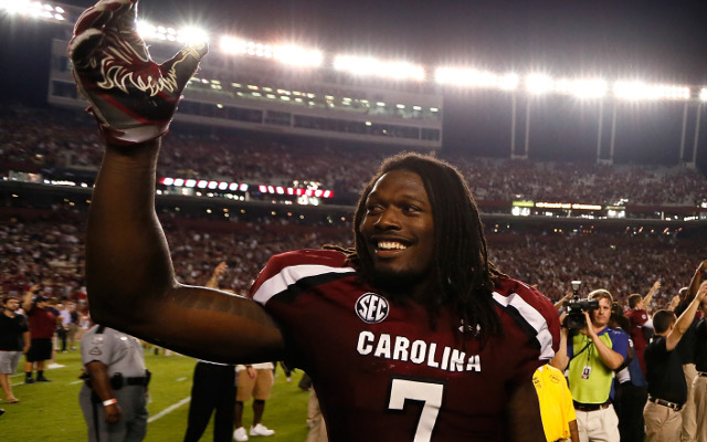 (Video) Jadeveon Clowney will miss rest of spring practice with neck injury
