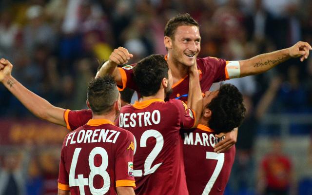 Alessandro Florenzi + Mattia Destro + Marquinho + Francesco Totti AS Roma