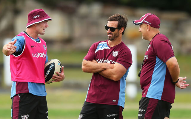 Immortal Andrew Johns behind Manly's pre-season training