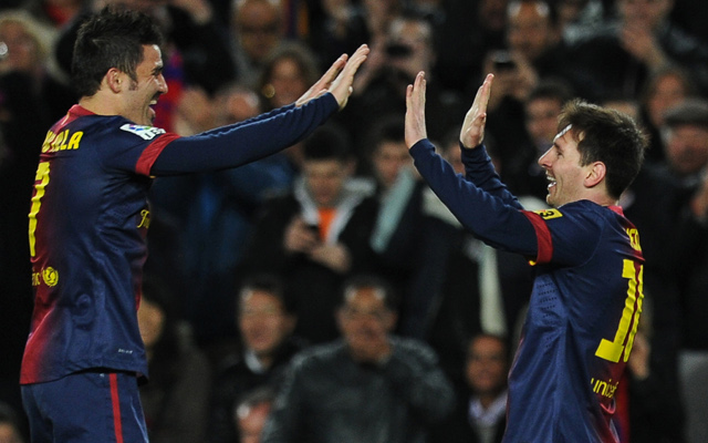 Barcelona striker David Villa dismisses talk of Messi row