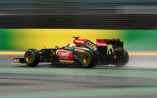 Lotus F1 driver Kimi Raikkonen triumphs at 2013 Australian Grand Prix