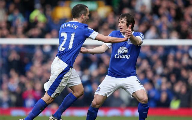 (GIF) Leon Osman's fabulous goal for Everton against Manchester City