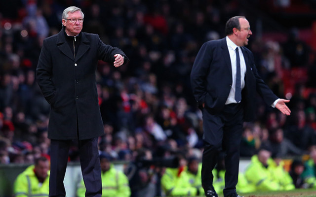 Chelsea boss Rafa Benitez claims Manchester United's Sir Alex Ferguson ignored pre-match handshake