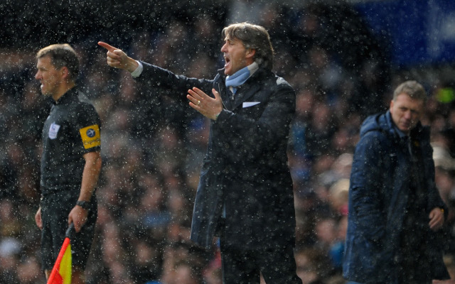 Angry Manchester City boss Roberto Mancini refuses interview after Everton loss