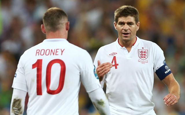 Wayne Rooney Steven Gerrard England
