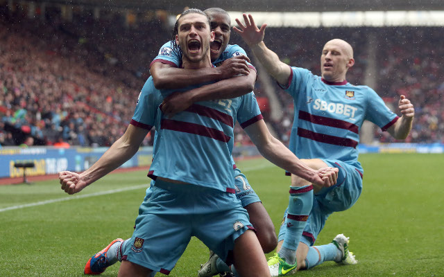 Andy Carroll James Collins West Ham United