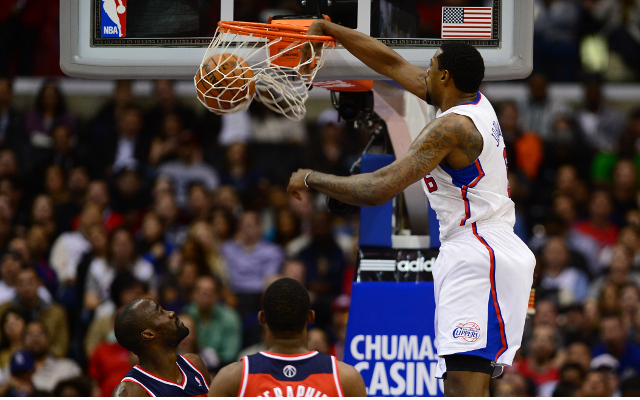 (Video) NBA Highlights: DeAndre Jordan with a vicious slam over Marco Belinelli