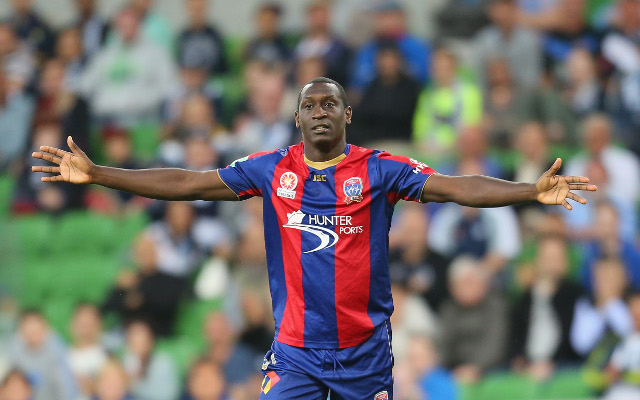 (Image) Emile Heskey returns to Newcastle Jets to shoot membership commercial