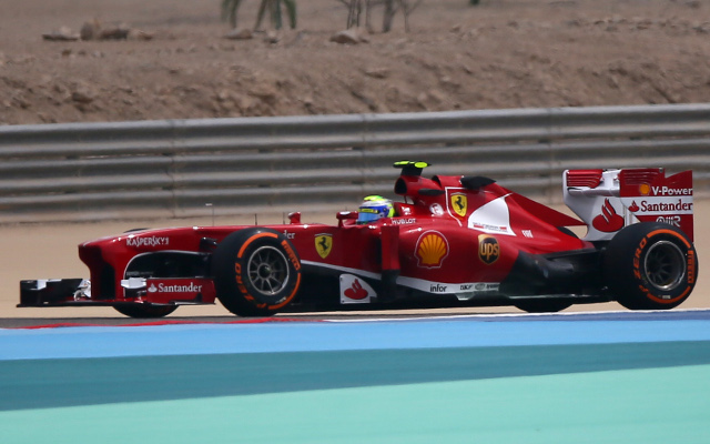Ferrari's Felipe Massa leads first practice times for Bahrain F1 Grand Prix
