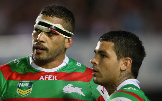 NRL star Greg Inglis shows off cut left from 'day at the office'