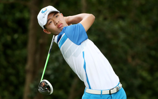 Guan Tianlang shows no nerves in opening round of The Masters