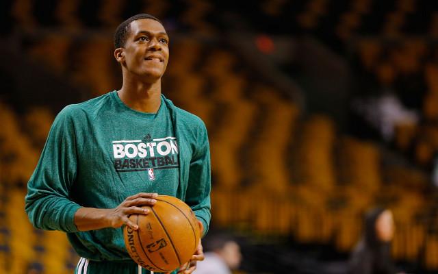 (Video) Rajon Rondo hits basketball shots in pre-game warmup with Boston Celtics