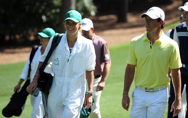 Rory McIlroy has girlfriend Caroline Wozniacki caddy for him at US Masters (image gallery)