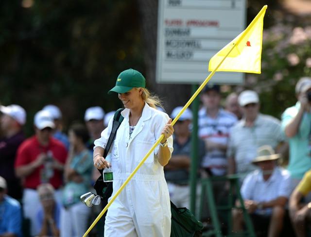 Rory McIlroy + Caroline Wozniacki US Masters golf