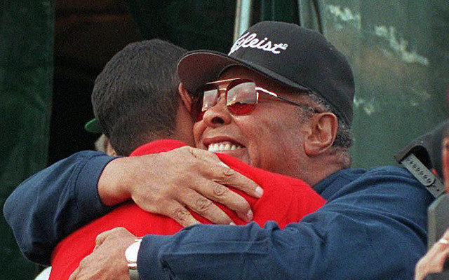Tiger Woods and his father Earl Woods