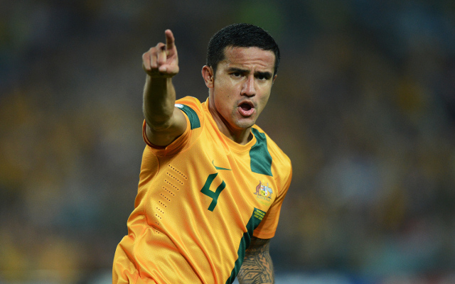 (Video) Emotional Tim Cahill watches on as son Kyah performs national anthem