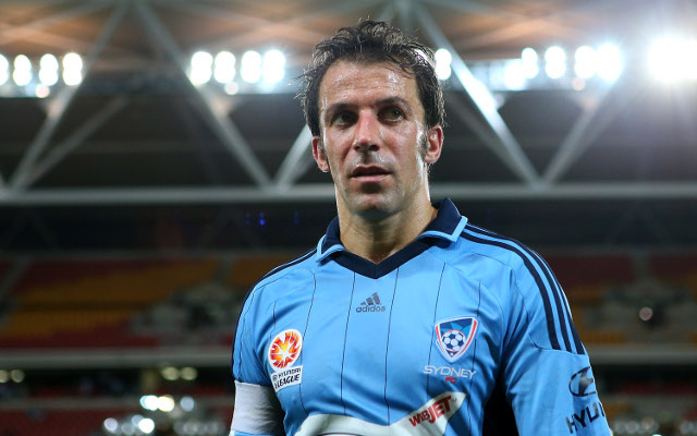 (Video) Juventus hero Alessandro Del Piero takes on Ice Bucket Challenge; surprisingly nominates Sydney Roosters player