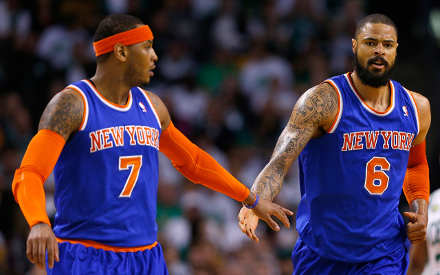 New York Knicks star Carmelo Anthony seeks clarification from Tyson Chandler