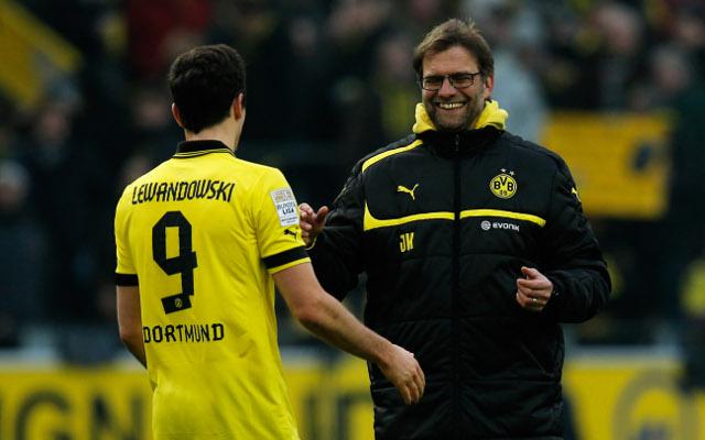 Lewandowski Klopp Borussia Dortmund