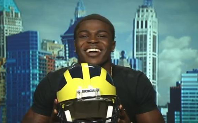 Michigan recruit Jabrill Peppers raps his commitment to the Wolverines