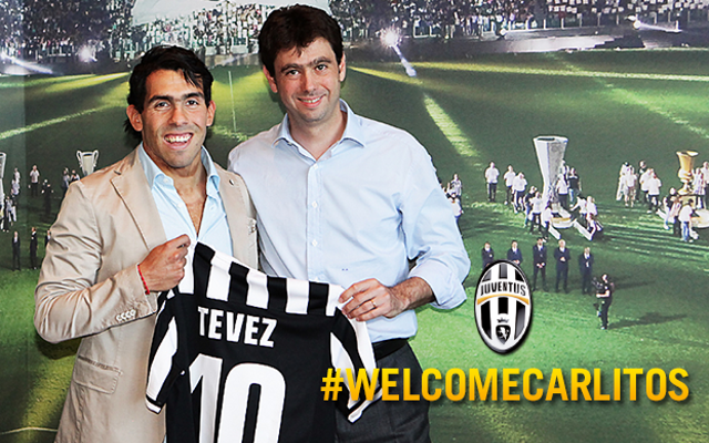 """I'll have to work harder than I did in England"" says Juventus striker Carlos Tevez"