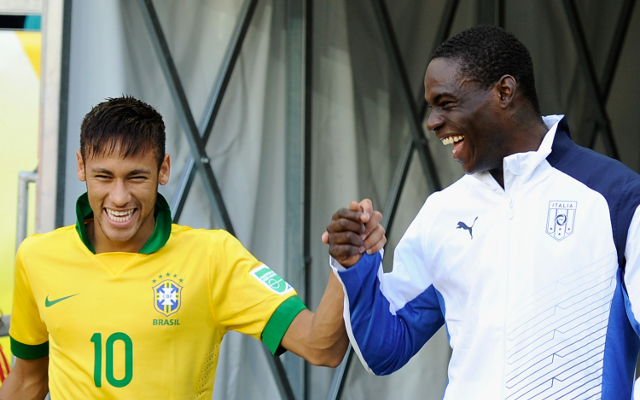 Brazil starlet Neymar has words of advice for Mario Balotelli