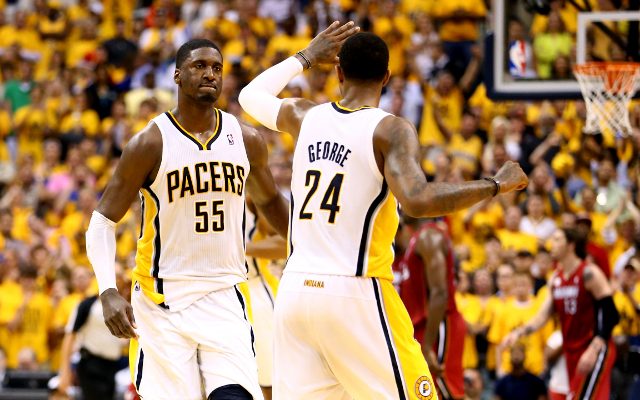(Video) NBA Playoffs stars: Indiana Pacers duo Paul George and Roy Hibbert