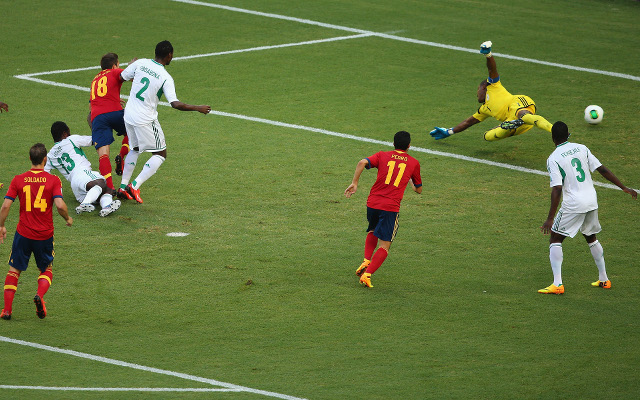 (GIFs) Barcelona's Jordi Alba scores cracking double for Spain vs Nigeria