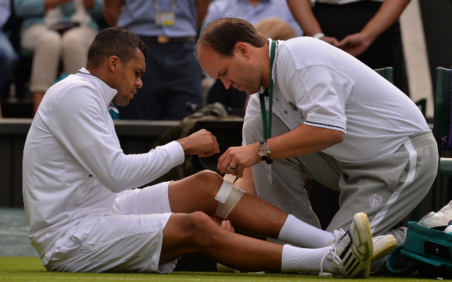 Tsonga out of Wimbledon with knee injury