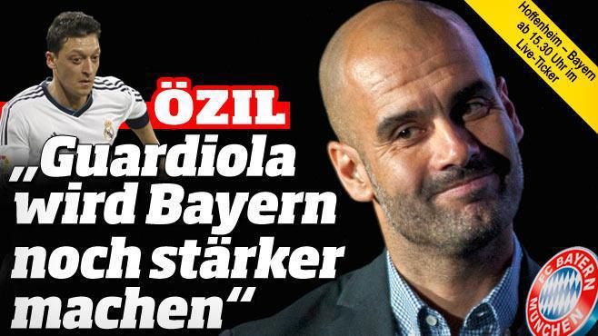 Ozil Guardiola Real Madrid Bayern