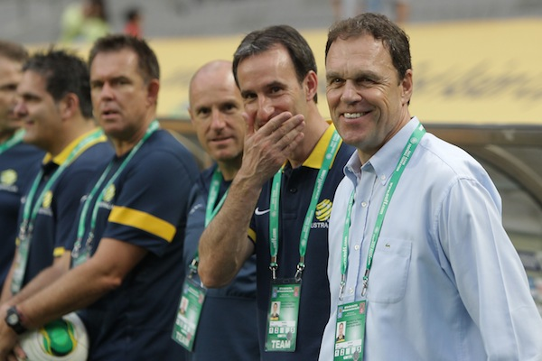(Image) Socceroos overshadowed by bizarre welcome after touching down in Brazil