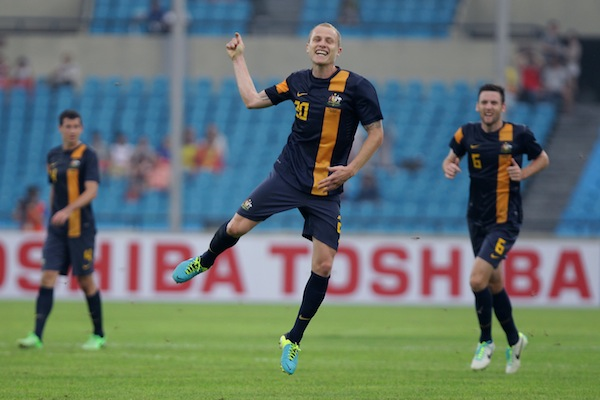 (Video) Aaron Mooy's sizzling 30-yard equaliser for Australia against China